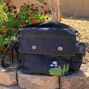 PAUL FRANK denim diaper bag like new!